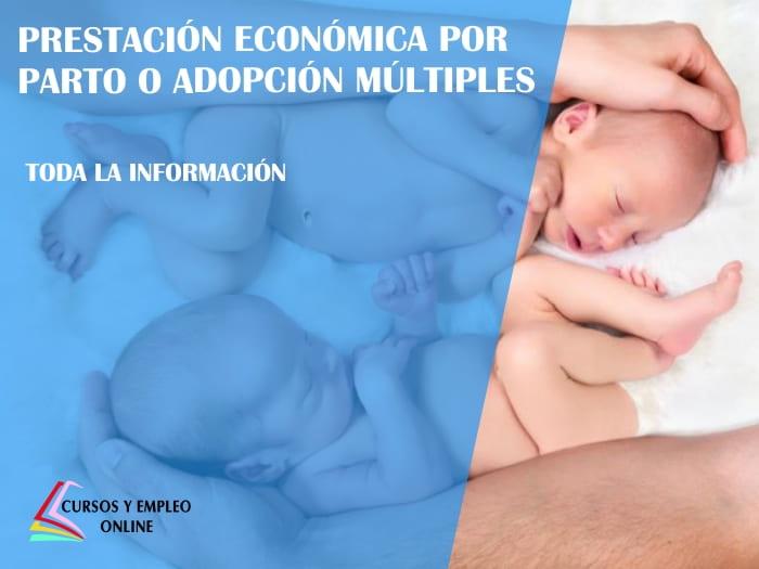 prestación económica por parto o adopción múltiples