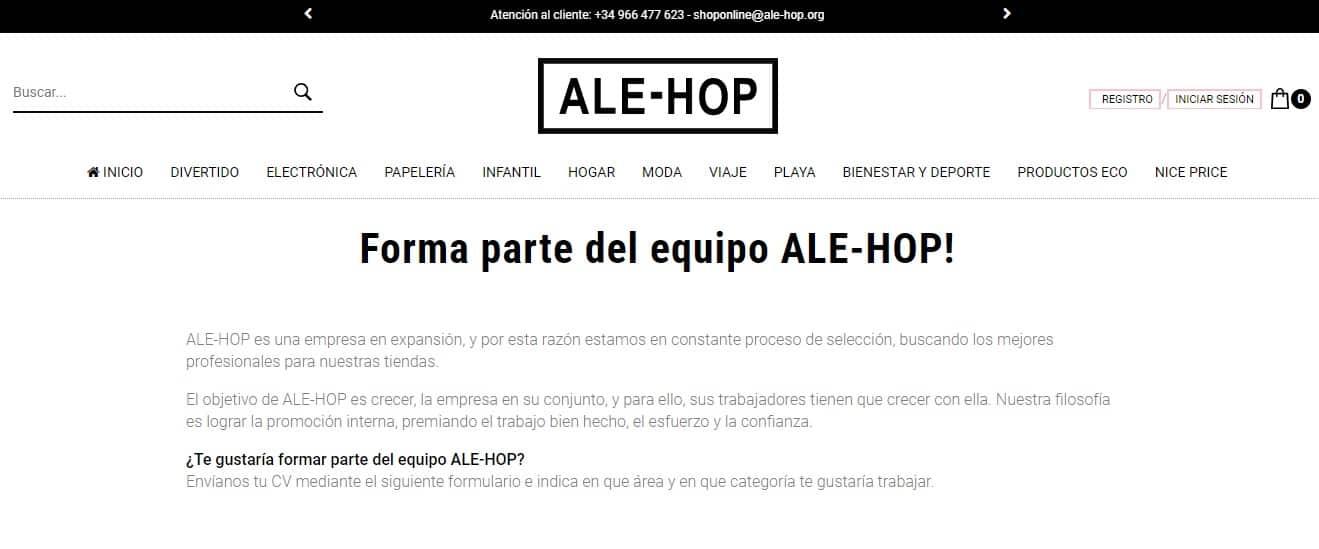 trabajar en ale-hop
